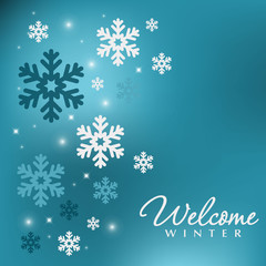 Winter beautiful decor with snowflakes.Christmas holiday background.