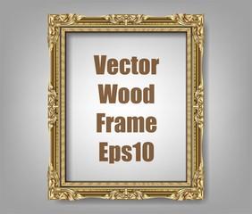 Wall Mural - Invitation of Golden Photo Frame vector design