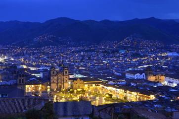 Blue Hour Over the City - Cusco, Peru