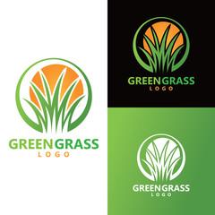 grass logo vector