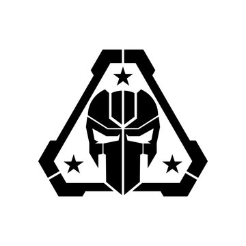 tactical mask skull logo design