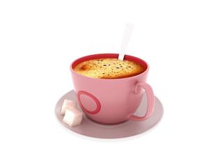 3d render coffee cup