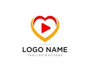 Heart Hug Play Flat Color Professional CLean Design. Logo Template.