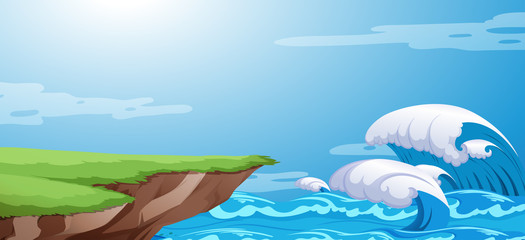 A ocean cliff background