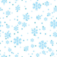 Christmas snowflakes network seamless pattern. Great for winter holidays wallpaper, backgrounds, invitations, packaging design projects. Surface pattern design.