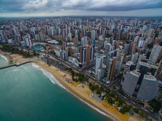 Aeria view of the city of Fortaleza, Ceará, Brazil South America. Fototapete