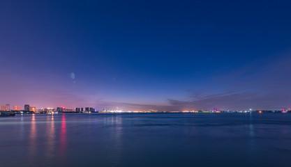 Night scene of the Yangtze River Terminal