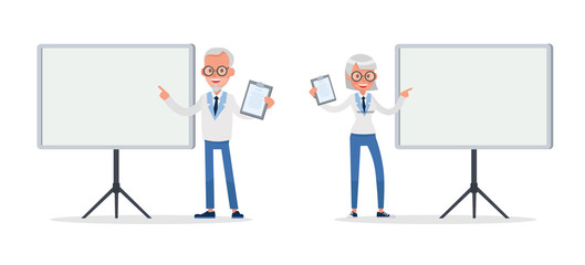 business people working and different poses action character vector design no27