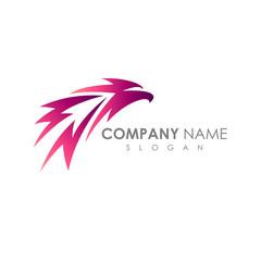 Fast Eagle Logo. Eagle Head With Arrow Shape