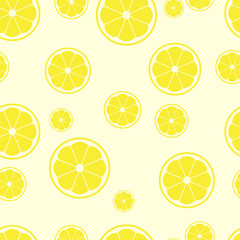 lemon sliced become to seamless pattern background