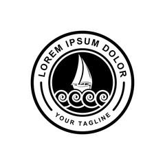 logo design sailboat