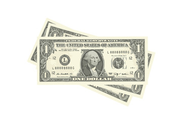 stack of one-dollar bills. vector illustration