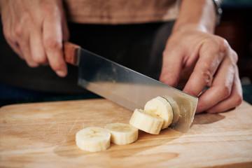 Cutting banana