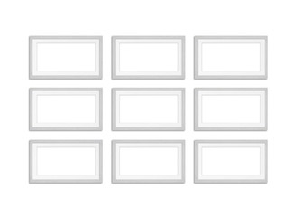 Frames collage, isolated on white background