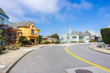 Residential street in the Golden Gate Heights neighborhood, San Francisco, California