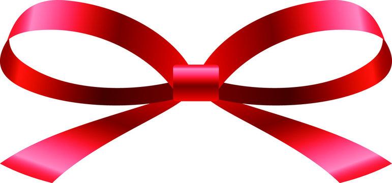 ribbon shaped like a butterfly