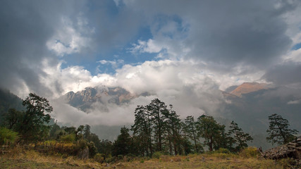High ice mountain in Nepal