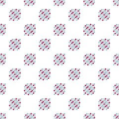 Atomic cube pattern seamless vector repeat for any web design