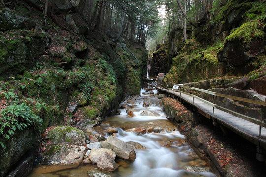 Granite river gorge