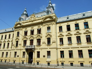 Neoclassical palace in the center of Zagreb