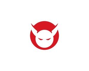 Devil logo vector