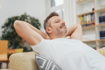Man enjoying a quality moment at home