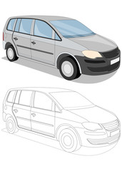 Cars. Isolated on white background. Vector illustration.