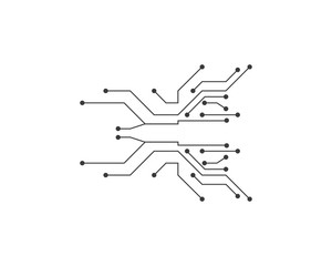 circuit technology ilustration vector template