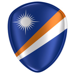 3d rendering of a Marshall Islands flag icon.