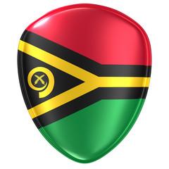 3d rendering of a Vanuatu flag icon.