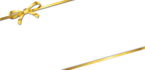 Geschenk Schleife Gold