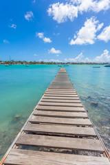 Ponton à Grand-Baie, île Maurice