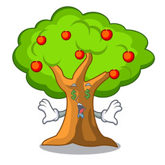 Money eye apple tree in agriculture the cartoon