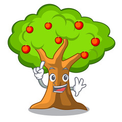 Finger apple tree in agriculture the cartoon