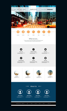 One Page Website Template with Street View