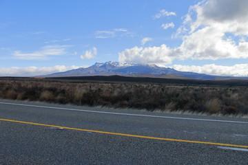 Mount Ruapehu seen from the street