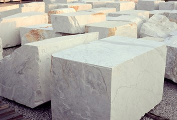 white marble blocks Wall mural