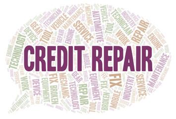 Credit Repair  word cloud.