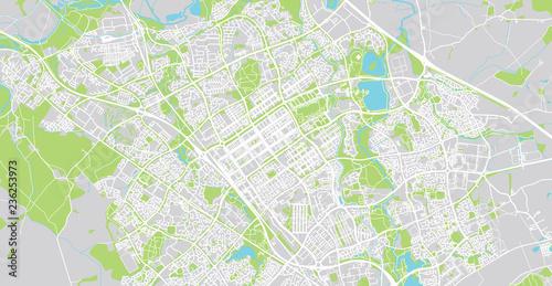 Map Of England Milton Keynes.Urban Vector City Map Of Milton Keynes England Stock Image And