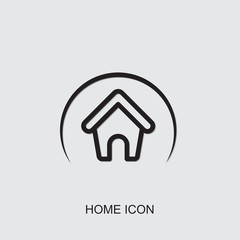 home icon. outline home icon from realestate collection. Use for web, mobile, infographics and UI/UX elements. Trendy home icon.