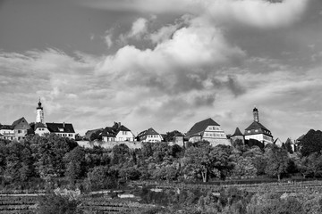 skyline of Rothenburg ob der Tauber