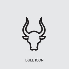 bull icon. outline bull icon from animals collection. Use for web, mobile, infographics and UI/UX elements. Trendy bull icon.
