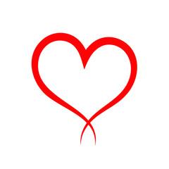 Hand drawn heart vector icon