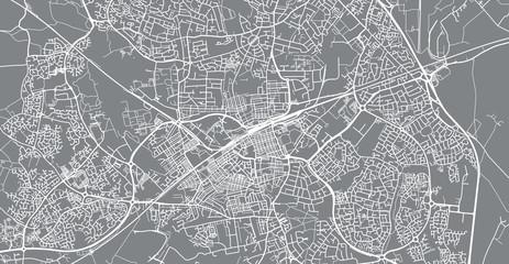 Urban vector city map of Swindon, England