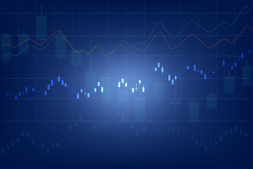 vector of forex trading graph abstract background ,business and financial concept