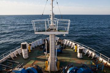 Antennas on passenger ship