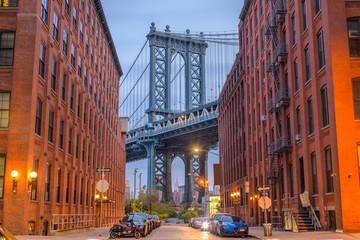 Manhattan Bridge from Brooklyn New York