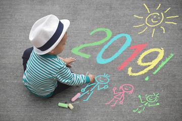 Kinderzeichnung - Neujahr 2019