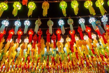 Beautiful lanterns in the lantern festival in Thailand