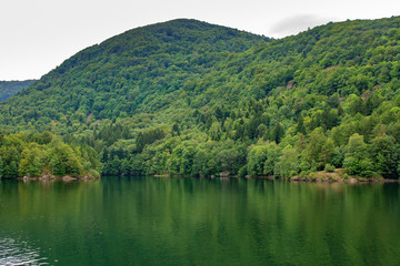 Alfred lake in Vosges mountains in France